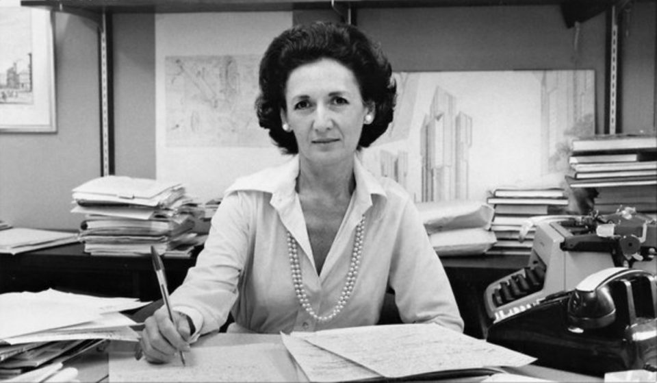Ada Louise Huxtable in her office at The New York Times, 1973 © The New York Times