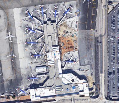 Norma Sklarek, Welton Becket, Terminal One, Los Angeles International Airport, Los Angeles, 1984 © Map data: Google