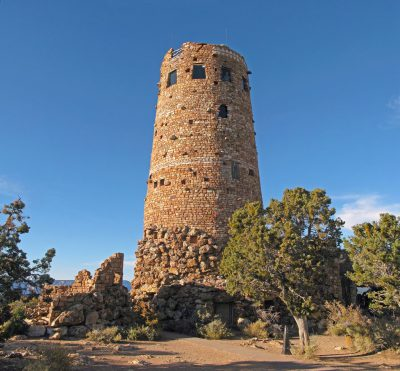 Mary Jane Colter, Desert View Watchtower, Grand Canyon, 1933. Photograph 2008. National Park Service