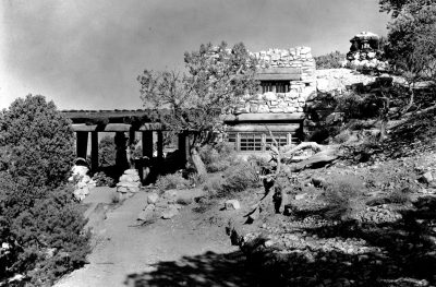 Mary Jane Colter, Hermit's Rest, Grand Canyon, 1914. Photograph 1936. Grand Canyon Museum Collection