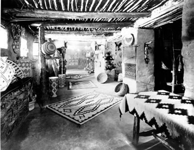 Mary Jane Colter, Interior, Hopi House, Grand Canyon, 1905. National Park Service