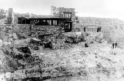 Mary Jane Colter, Lookout Studio, Grand Canyon, 1914. Photograph 1915. National Park Service