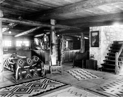 Mary Jane Colter, Interior, Lookout Studio, Grand Canyon, 1914. Photograph 1915. National Park Service