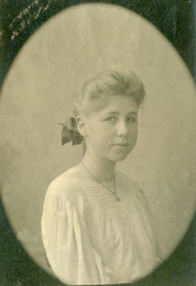 Lilian J. Rice, high school class portrait, circa 1905. Courtesy of Diane Welch