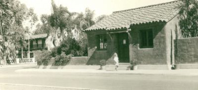 Lilian J. Rice, the house of Louise Spurr-Badger (manager of the service station), Paseo Delicias, Civic Center, Rancho Santa Fe, 1922–23. Courtesy of the Spurr Family
