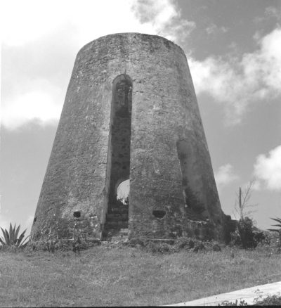 Sugar Cane Mill, Buccaneer Plantation, St.Croix, Virgin Islands. Photo by Sibyl Moholy-Nagy. Published in Native Genius of Anonymous Architecture, 1957, p. 75. Courtesy of UCSC collection. © Hattula Moholy-Nagy