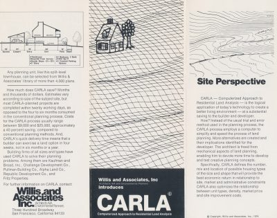 Beverly Willis and Associates, CARLA Brochure, San Francisco, 1974. Beverly Willis Archive