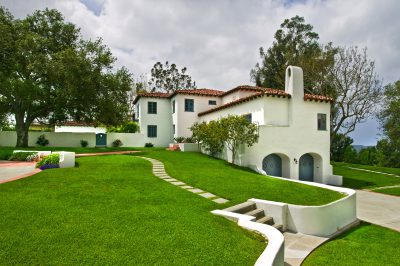 Lilian J. Rice, exterior of Hamilton Carpenter estate home, El Mirador, Rancho Santa Fe, 1928. Photograph by Darren Edwards