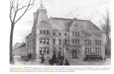 Bethune & Bethune Architects, 74th Armory Building (later Elmwood Music Hall), Buffalo, N.Y., 1886. Buffalo History Museum