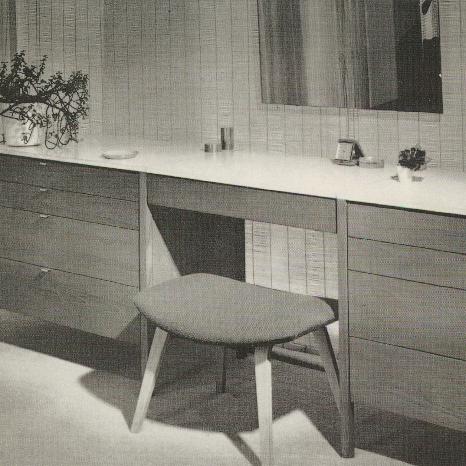 Florence Knoll, Suspended Vanity 329 1, 1960u201373, And 62 Ottoman