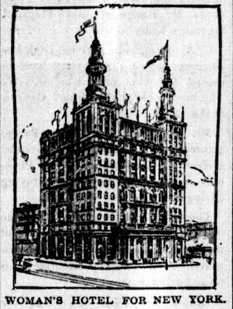 Mary Nevan Gannon and Alice J. Hands, Woman's Hotel for New York, newspaper sketch. Flagstaff Sun-Democrat, April 29, 1897