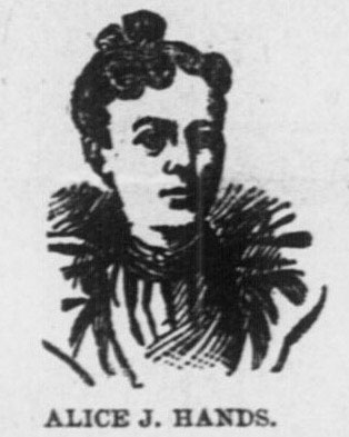 Portraits of Alice J. Hands and Mary N. Gannon, newspaper sketch of the pair. Pacific Commercial Advertiser, Honolulu, February 12, 1895