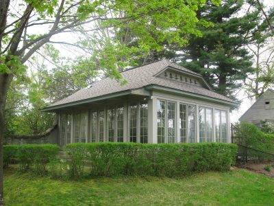 "Theodate Pope Riddle, Summerhouse, ""Highfield,"" the Joseph P. Chamberlain house, Middlebury, Conn., 1909–14 © James F. O'Gorman"