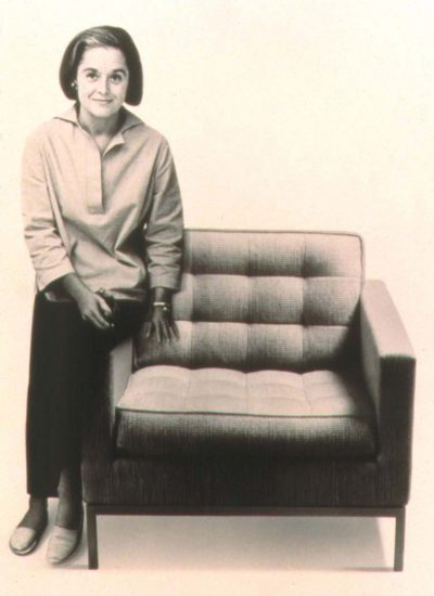 Florence Knoll with a lounge chair of her own design © Knoll, Inc.