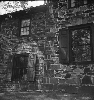Double house, New Hope, PA. Photo by Sibyl Moholy-Nagy. Published in Native Genius of Anonymous Architecture, 1957, p. 179. Courtesy of UCSC collection. © Hattula Moholy-Nagy