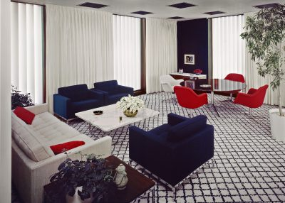 Florence Knoll, CBS Building interiors, New York City. Photograph by Robert Damora, 1965 © Damora Archive