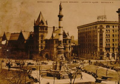 Lafayette Square, Buffalo, 1905. Zina Bethune Archive on Louise Bethune, State University of New York at Buffalo
