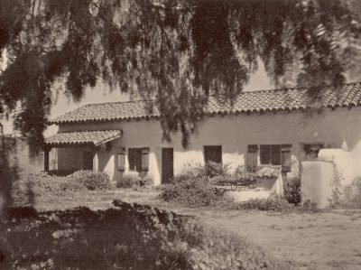 Lilian J. Rice, the restored Silvas/Osuna adobe for the Barlow family, circa 1927. Courtesy of the Barlow Family