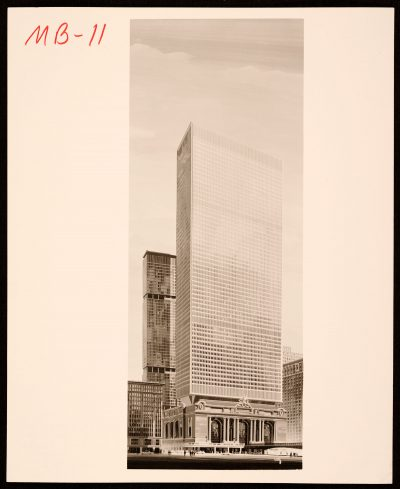 Marcel Breuer, proposal for a Grand Central Air Rights Building, New York, 1969. Archives of American Arts