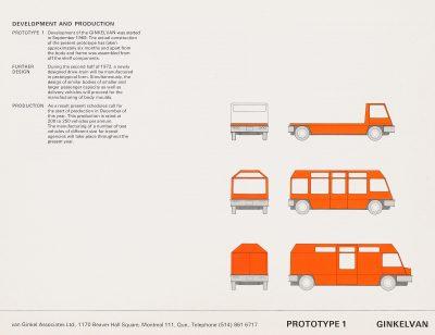"Van Ginkel Associates, Ginkelvan Prototype 1, taken from the publicity brochure ""Ginkelvan,"" circa 1979. Centre Canadien d'Architecture/ Canadian Centre for Architecture"