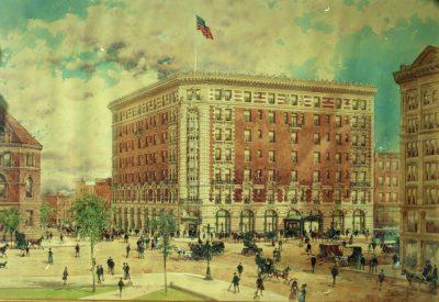 Louise Blanchard Bethune, Bethune, Bethune & Fuchs, Lafayette Hotel rendering, Buffalo, N.Y., 1904. Courtesy of Kelly Hayes McAlonie