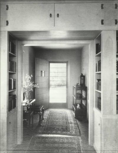 Eleanor Raymond, entry hall, Rachel Raymond House, Belmont, Mass.,1931. Harvard University Graduate School of Design, Frances Loeb Library, Special Collections