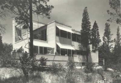 Eleanor Raymond, back elevation, Rachael Raymond House, Belmont, Mass., 1931. Harvard University Graduate School of Design, Frances Loeb Library, Special Collections