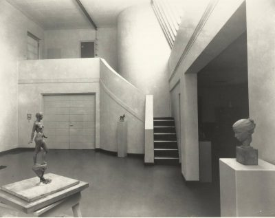 Eleanor Raymond, studio interior, Peabody Studio, Dover, Mass., 1933. Harvard University Graduate School of Design, Frances Loeb Library, Special Collections