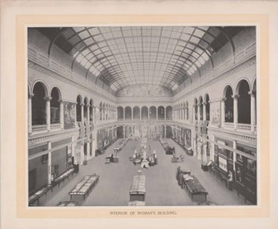 Sophia Hayden, Woman's Building, World's Columbian Exposition, Chicago, 1893. Photograph by William Henry Jackson, 1894. Ball State University Archives and Special Collections, Documents and Drawing Archive.
