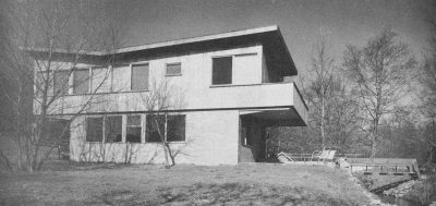 Alfred and Jane West Clauss, Peter Clauss Residence, Wallingford, Penn., 1954. This house was built by Alfred and his son Peter and featured in Katherine Morrow Ford and Thomas H. Creighton's book, Quality Budget Houses (New York: Reinhold, 1954). Courtesy of the Clauss family