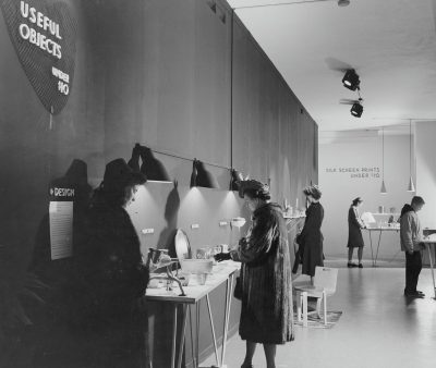 "Visitors at the exhibition ""Useful Objects of American Design under $10,"" held at the Museum of Modern Art, New York, November 26, 1940 through December 24, 1940. Photographic Archive, The Museum of Modern Art Archives, New York © The Museum of Modern Art Archives"
