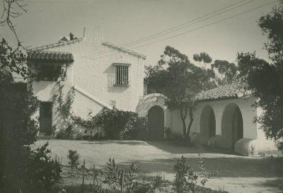 "Lutah Maria Riggs, Lutah M. Riggs House, ""Clavelitos,"" Montecito, Calif., 1926. Photograph by Fred R. Dapprich. Architecture and Design Collection, Art, Design & Architecture Museum, University of California, Santa Barbara"