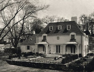 "Verna Cook Salomonsky,  ""Ideal House"" for House and Garden magazine,constructed in Berkley, Scarsdale, N.Y., 1936. From Residences Designed by Verna Cook Salmonosky, Architect (1936)"
