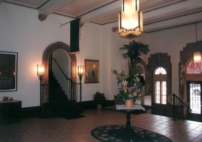 Nelle E. Peters, Commodore Hotel, lobby, Wichita, Kan., 1929. Photograph by Christy Cauble Davis
