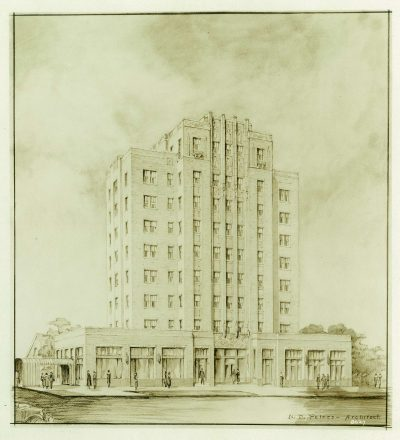 Nelle E. Peters, unidentified hotel/apartment building, published in Kansas City Journal Post, June 6, 1926