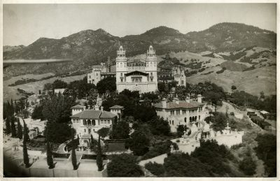 Julia Morgan, Hearst Castle, San Simeon, Calif., as it appeared in 1931. Photograph by Harold Wesley Truesdale with notations by Morgan. Julia Morgan Papers, Special Collections, Cal Poly San Luis Obispo